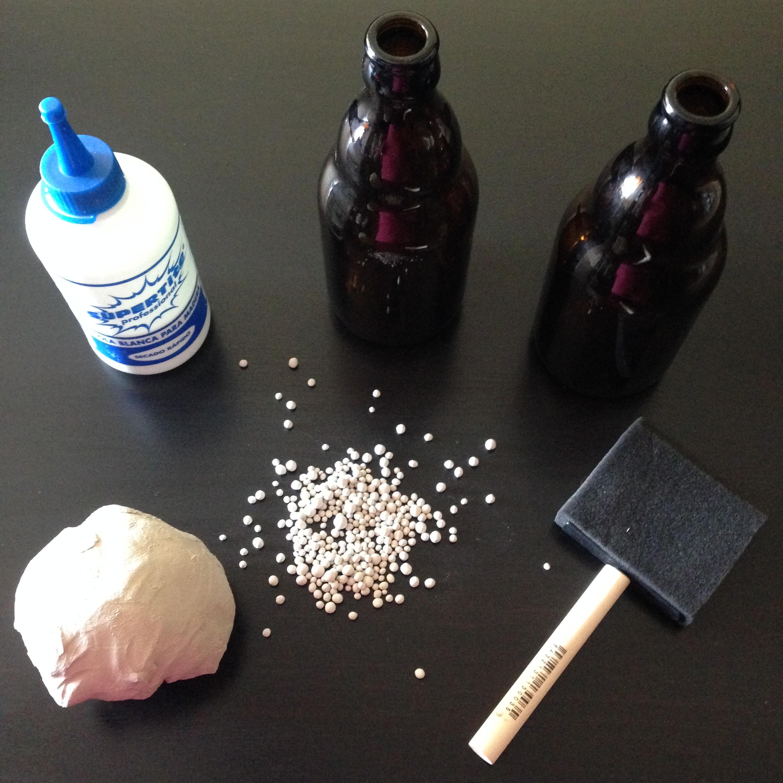diy jarrones de vidrio materiales